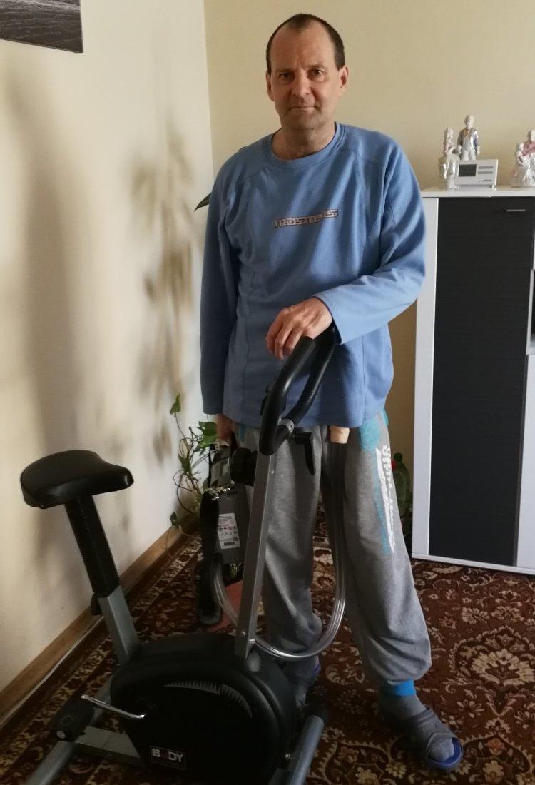 Jozef Baláž berie svoje ochorenie športovo FOTO: Archív J.B.