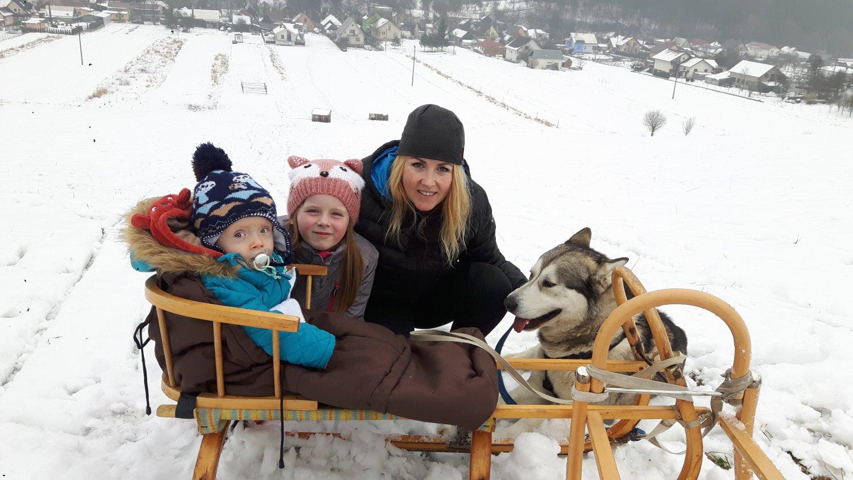 Katka Krajčoviechová s deťmi Foto: Archív K.K.